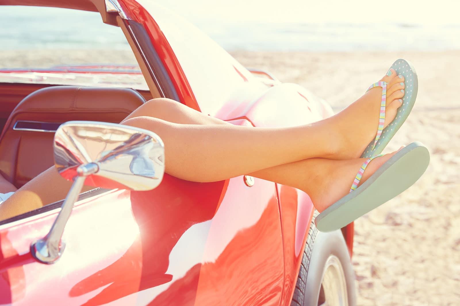 car beach